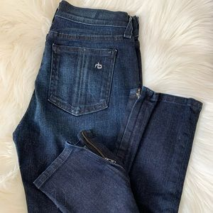 Rag & Bone Skinny Capri Jeans w/ zipper at ankle